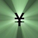 Chiarore dei soldi di Yen del segno di valuta Immagine Stock