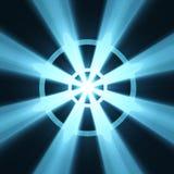 Chiarore dell'indicatore luminoso del segno della rotella di Buddhism Immagine Stock