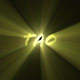 Chiarore dell'indicatore luminoso del sole delle lettere del Tao Immagini Stock