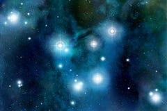 Chiarore delle stelle dello spazio illustrazione vettoriale