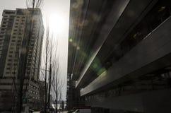 Chiarore di Sun nella città Fotografia Stock Libera da Diritti