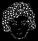 Chiarore Mesh Carcass Hairstyle Head con i punti del chiarore royalty illustrazione gratis