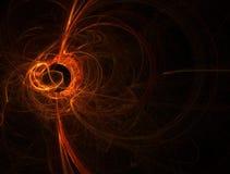 Chiarore solare arancione Fotografia Stock