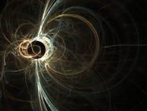 Chiarore solare del buco nero dell'oro e dell'azzurro Fotografia Stock