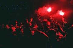 Chiarori di festival 2016 di Glastonbury fotografia stock