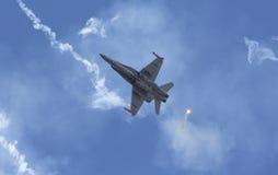 Chiarori tattici moderni della fucilazione dell'aereo da caccia Immagini Stock