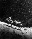 Chiaroscuro kowboja pogrzeb obraz royalty free