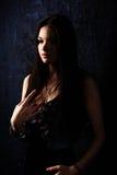 Chiaroscuro portrait of a beautiful girl Royalty Free Stock Photos