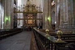 Chiars在大教堂,塞戈维亚,西班牙里 库存图片