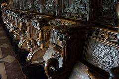 Chairs in Cathedral, Toledo, Spain Stock Images