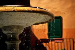 Chiasciano. Tuscany street city summer country road colors fountain water drop Stock Photography