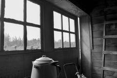Chiatta d'Alasca Fotografia Stock Libera da Diritti