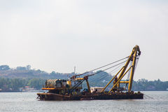 Chiatta indiana sul fiume, Goa Fotografia Stock Libera da Diritti