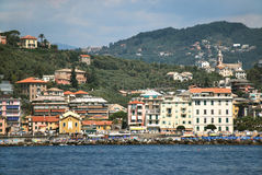 Chiavari. Liguria. Sea and beach in Northern Italy Stock Image