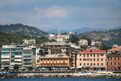 Chiavari. Liguria. Sea and beach in Northern Italy Stock Photography