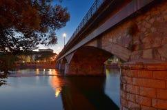Chiavari bridge Stock Photography