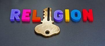 Chiave alla religione Immagini Stock