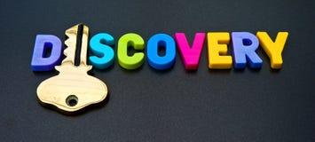 Chiave alla scoperta fotografia stock
