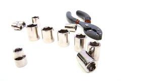 Chiave a bussola/strumenti fotografia stock