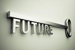 Chiave con futuro Immagini Stock