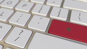 Chiave con la bandiera del Marocco sui commutatori della tastiera da chiudere a chiave con la bandiera della Germania, della trad illustrazione di stock