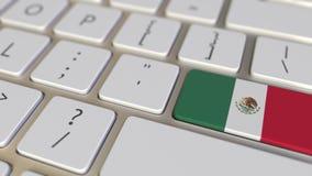 Chiave con la bandiera del Messico sui commutatori della tastiera da chiudere a chiave con la bandiera della Germania, della trad illustrazione di stock