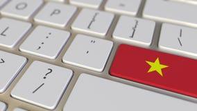 Chiave con la bandiera del Vietnam sui commutatori della tastiera da chiudere a chiave con la bandiera della Germania, della trad illustrazione vettoriale