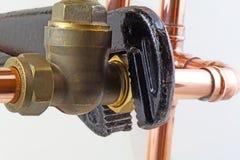Chiave degli idraulici Fotografia Stock