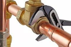 Chiave degli idraulici Fotografia Stock Libera da Diritti