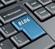 Chiave del blog della tastiera Fotografie Stock Libere da Diritti