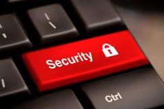 Chiave del bottone di sicurezza Fotografia Stock Libera da Diritti