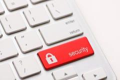 Chiave del bottone di sicurezza Fotografia Stock