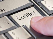 Chiave del contatto Immagini Stock Libere da Diritti