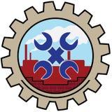 Chiave dell'icona della fabbrica Fotografia Stock Libera da Diritti