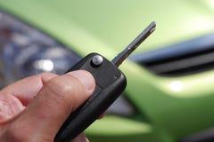 Chiave della porta di automobile Fotografie Stock Libere da Diritti