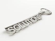 Chiave delle soluzioni Immagine Stock Libera da Diritti
