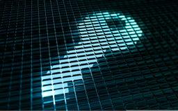 Chiave di accesso di Secure Digital Fotografia Stock Libera da Diritti