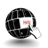 Chiave di aiuto della tastiera Immagini Stock Libere da Diritti