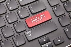 Chiave di aiuto sulla tastiera Fotografia Stock