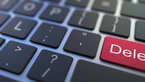 Chiave di CANCELLAZIONE che si gira PER AGGIUNGERE bottone sulla tastiera Animazione concettuale 3D illustrazione vettoriale