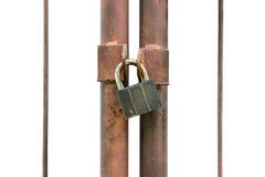 Chiave di catenaccio isolata Immagini Stock Libere da Diritti