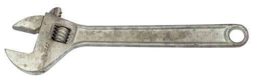 Chiave di chiave regolabile d'argento Immagini Stock