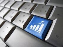 Chiave di crescita di affari Fotografie Stock