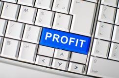 Chiave di profitto sulla tastiera del computer portatile Fotografia Stock Libera da Diritti