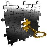 Chiave di puzzle Fotografie Stock