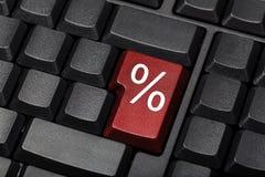 Chiave di tastiera del segno di percentuali fotografia stock libera da diritti
