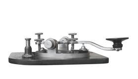 Chiave di telegrafo d'annata isolata Fotografia Stock Libera da Diritti
