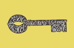 Chiave di tipografia Fotografia Stock Libera da Diritti