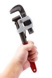 Chiave di tubo Fotografia Stock