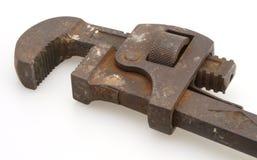 Chiave di tubo dell'annata Fotografia Stock
